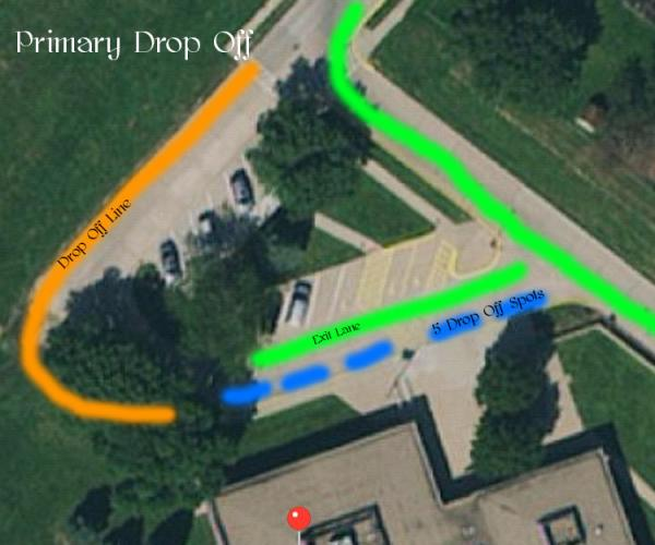 Primary Drop off Map