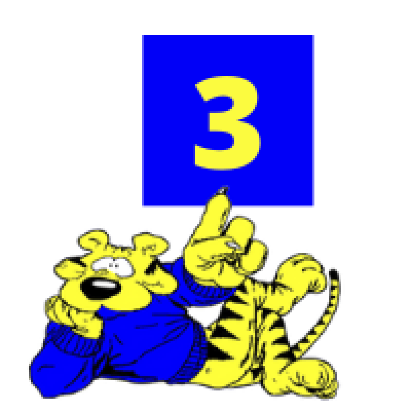 tiger with 3