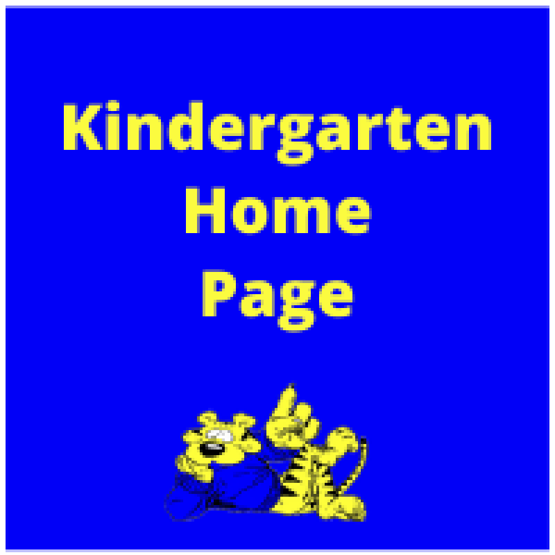 Kindergarten home page with tiger